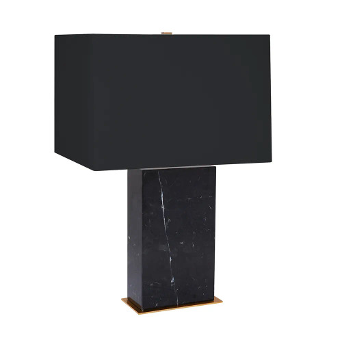 Octavie Black Marble with Black Shade Table Lamp