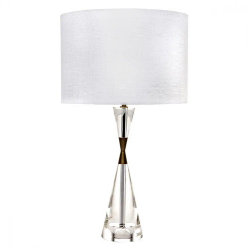 Essence Clear Crystal Base with Brass Rod Table Lamp