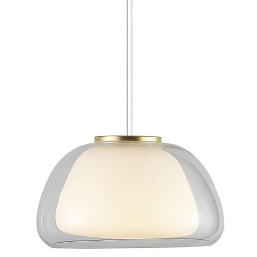 Jelly Dome Double Glass Modern Pendant Light