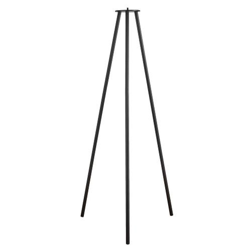 Kettle 110 Long Black Tripod Portable Lamp Base