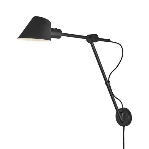 Stay Long Black Adjustable Wall Light