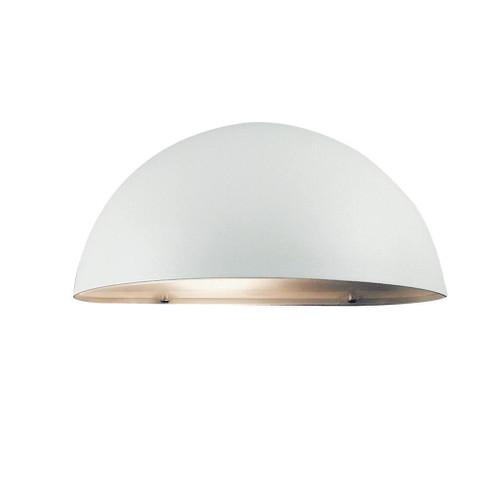 Scorpius Maxi Half Dome White Wall Light