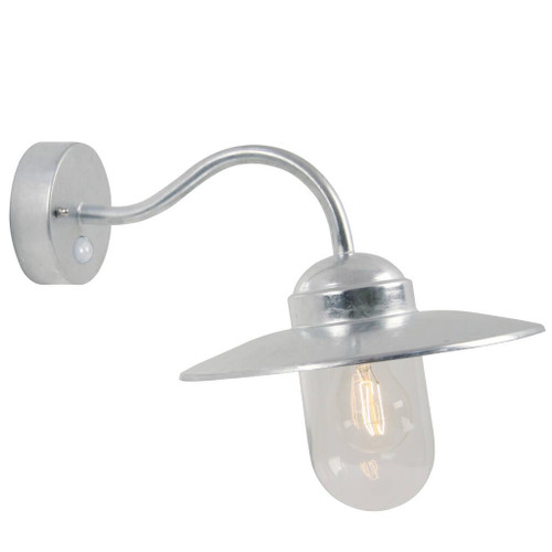 Luxembourg Galvanised Steel Classic Outdoor Wall Light with Sensor