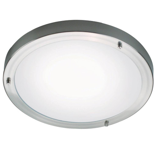 Ancona Maxi Brushed Steel Wall and Ceiling Bathroom Light