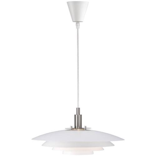 Bretagne Saucer White Pendant Light