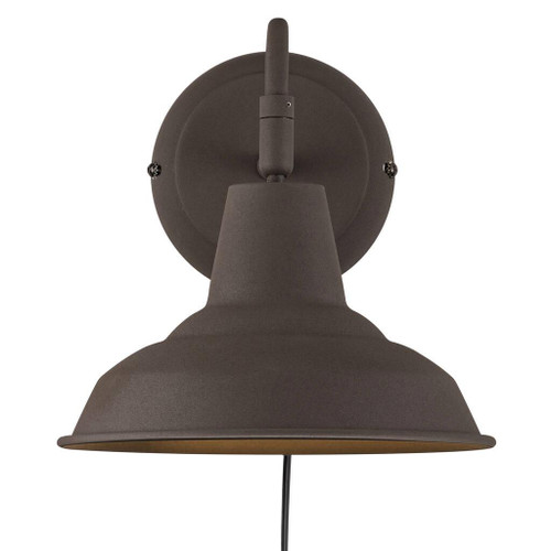Andy Antique Brown Metal Wall Light