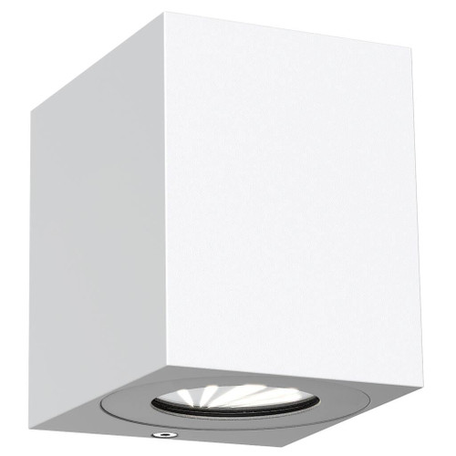Canto Kubi White Up and Down Square Wall Light