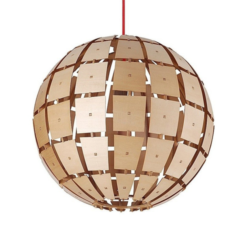 Wood Ball Pendant Light