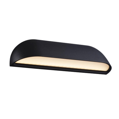 Front Classic Black Short LED Wall Lamp