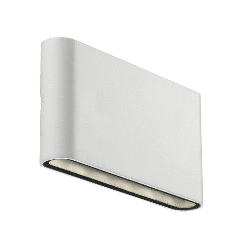 Kinver Lacquered Metal White Outdoor Up and Down Wall Light