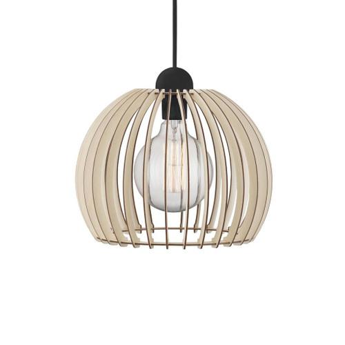 Chino Medium Wooden Slats Round Pendant Light