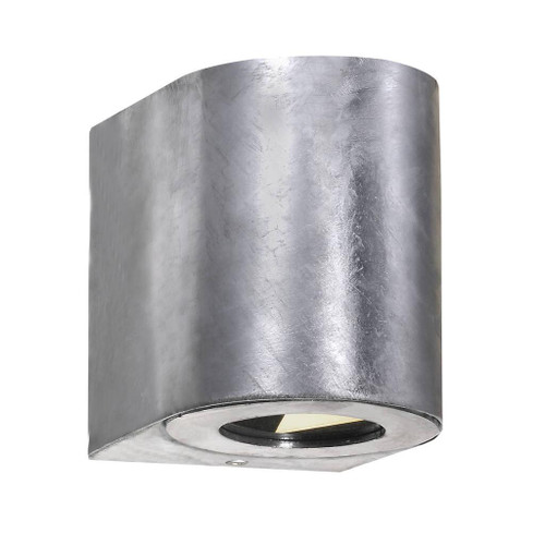 Canto Galvanized Minimalist Up and Down LED Wall Light