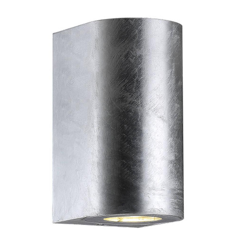 Canto Maxi Sleek Galvanized Indoor and Outdoor Wall Light