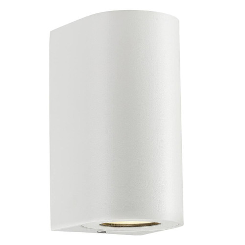 Canto Maxi Sleek White Indoor and Outdoor Wall Light