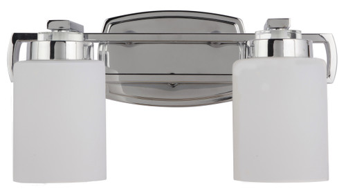 Dover Adjustable Chrome Twin Vanity Wall Light