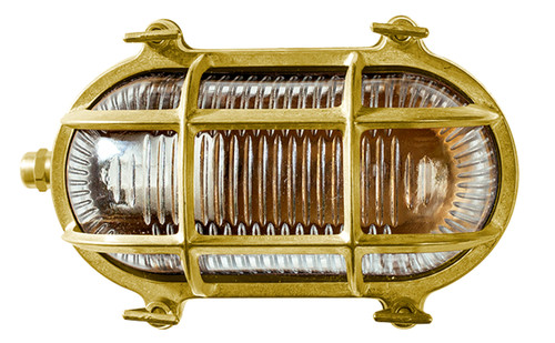Admiral Solid Brass Oval Exterior Wall Lamp