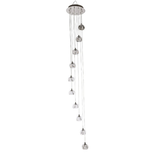Olympia 10 Light Light Round Plate Cluster Pendant Chandelier