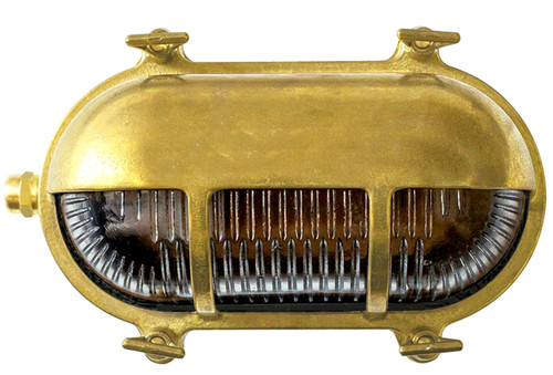 Navigator Solid Brass Oval Downward Outdoor Wall Lamp