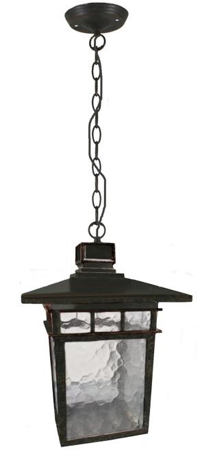 Promenade Medium Chain Bronze Lantern Pendant Light