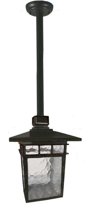 Promenade Medium Rod Bronze Lantern Pendant Light