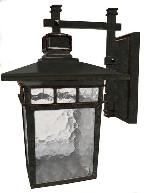 Promenade Medium Antique Bronze Lantern Wall Light