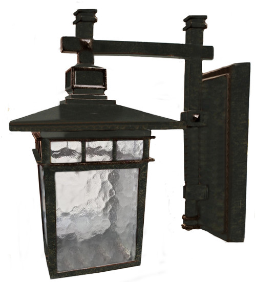 Promenade Small Antique Bronze Lantern Wall Light