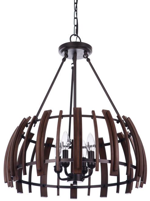 Lakewood Suspension 4 Light Bronze Circular Pendant Light