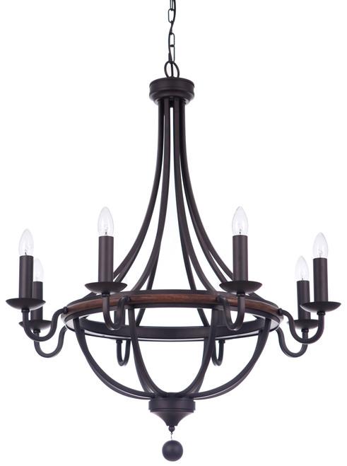 Lakewood 8 Light Bronze Chain Pendant Light