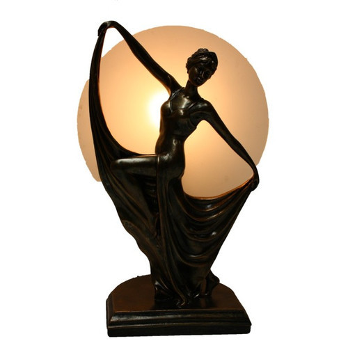 Ancient Dancing Lady Art Deco Lamp