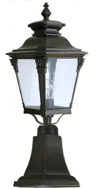 Transit Antique Bronze Medium Pillar Mount Lantern Pendant Light
