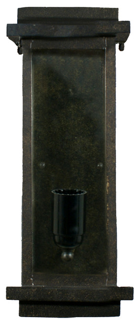 Loft Small Bronze Quadrilateral Outdoor Wall Sconce