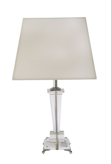 Ashes White Shade Crystal Table Lamp