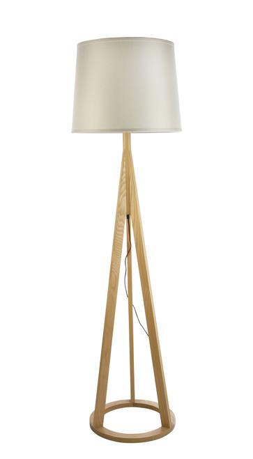 Celeste Scandinavian Wood Floor Lamp