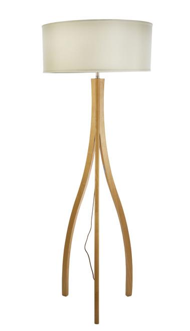 Denmark Curved Leg Wooden Floor Lamp