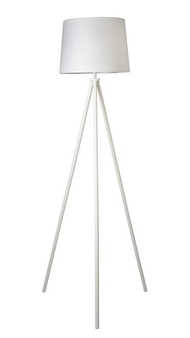 Eiffel White Contemporary Floor Lamp