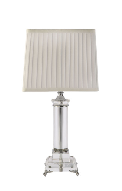 Kent White Shade Line Crystal Table Lamp
