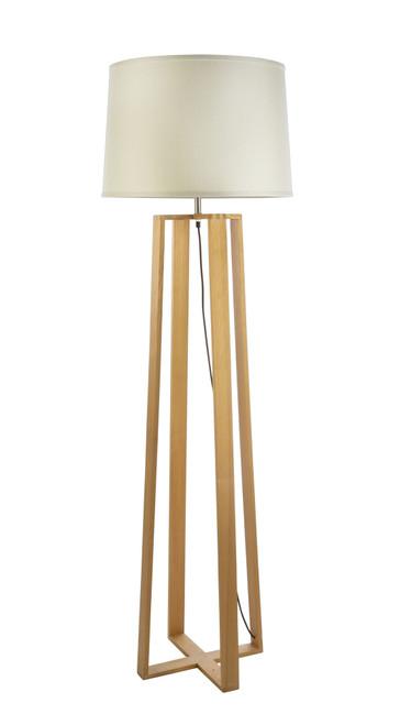 Sweden Bare Wooden Scandinavian Floor Lamp