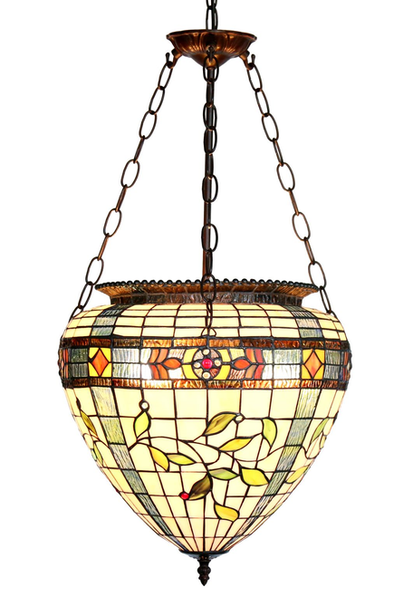Floral Cone Shade Hanging Pendant Lamp