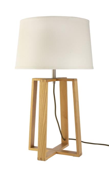 Sweden Bare Wooden Scandinavian Table Lamp
