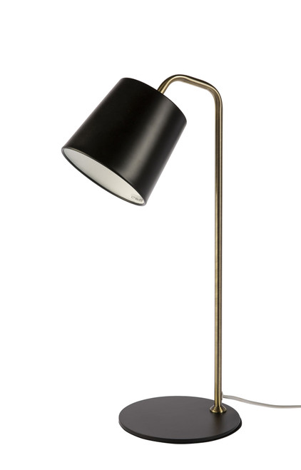 Taco Black and Bronze Minimalist Table and Desk Lamp