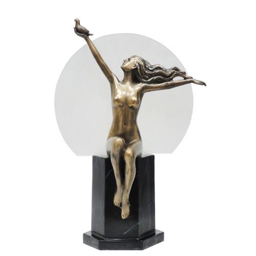 Art Deco Nude Woman Table Lamp