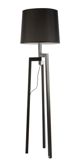 Tripod Black Angled Floor Lamp