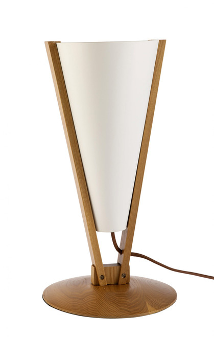 Vicenza Wooden Upside Down Conical Table Lamp