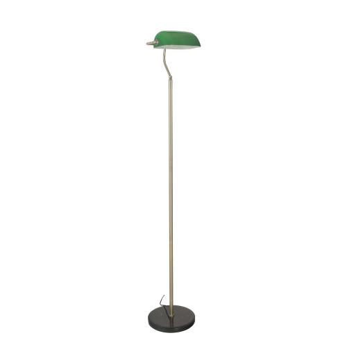 Brooke Antique Brass Slim Floor Lamp