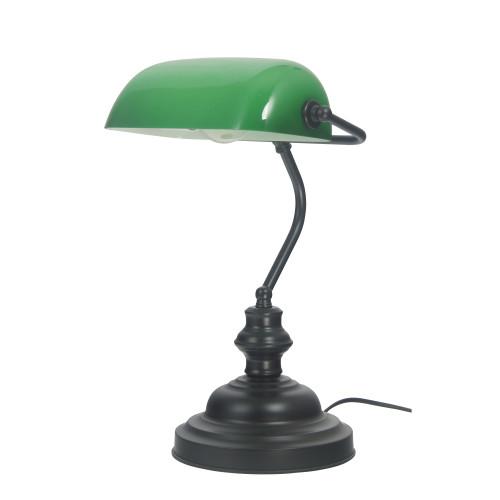 Brooke Black Slim Desk Lamp with Switch