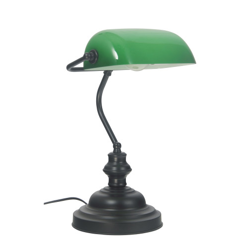 Brooke Black Slim Desk Lamp with Touch Switch