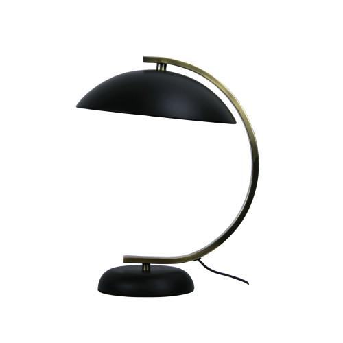 Moon Arc Black Antique Brass Table Lamp