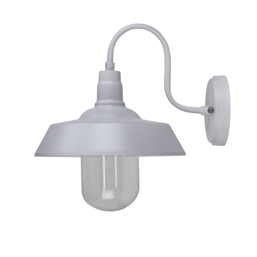 Barn Style White Industrial Wall Light