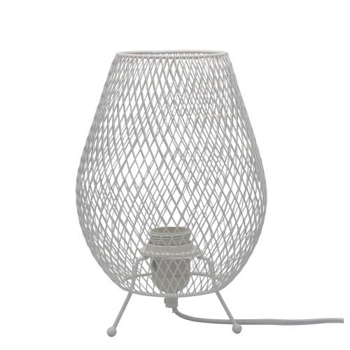 Crush White Wire Mesh Table Lamp