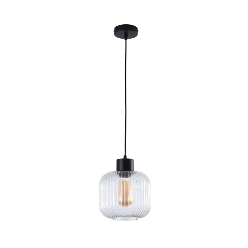 Mile Small Round Clear Glass Suspension Light